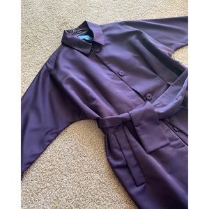 Spring trend 🌼 Vera Wang luxe purple satin trench